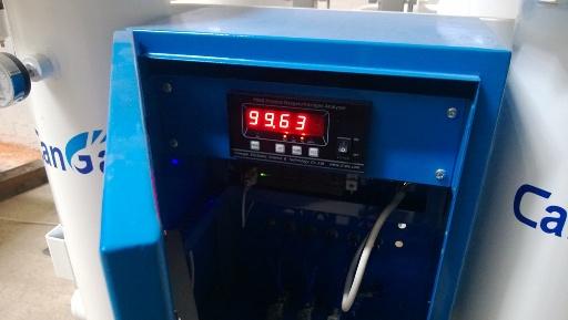 Показатель чистоты азота на установке CA-G-5